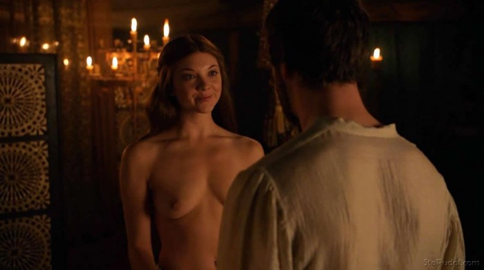 Sexy Natalie Dormer topless showing her boobs
