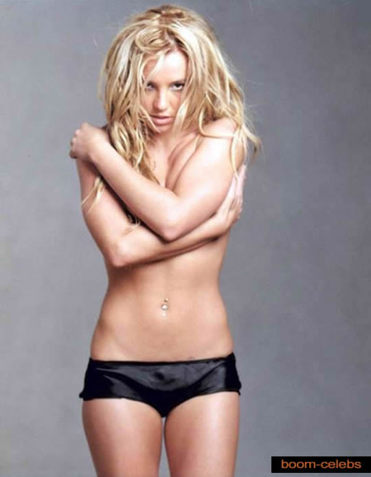 Britney Spears in black panties