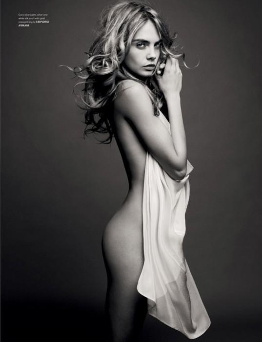 Cara Delevingne nude for Armani
