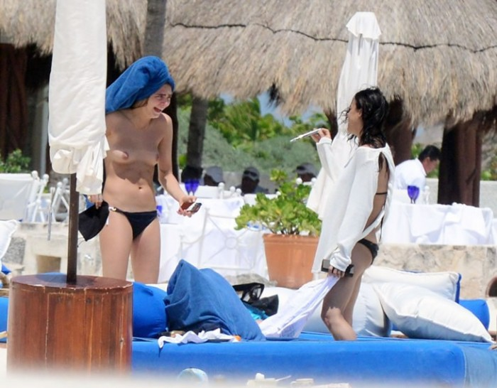 Cara Delevingne topless 2