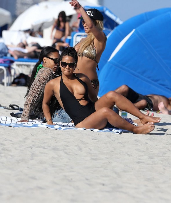Christina Milian nipples bikini