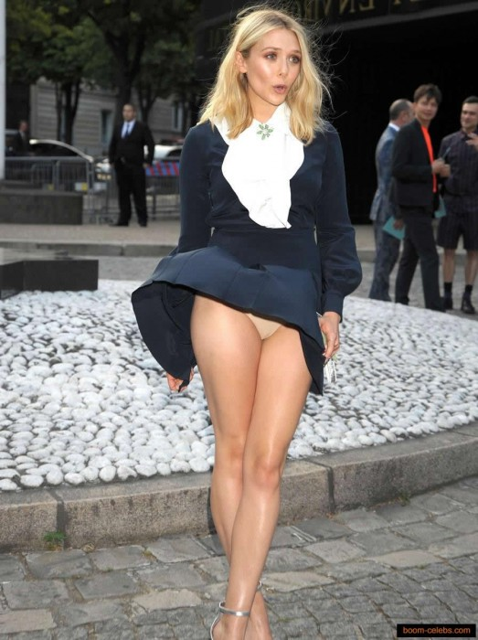 Elizabeth Olsen Upskirt Pics