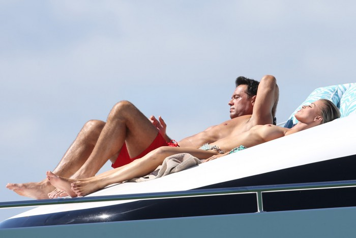 Joanna Krupa Goes Topless On Private Yacht