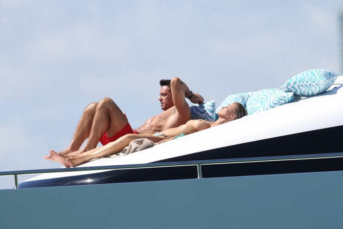 Joanna Krupa Goes Topless On Yacht