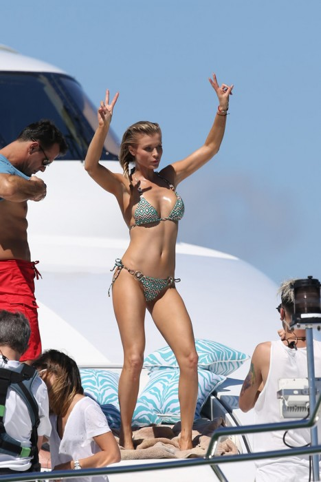 Joanna Krupa in sexy bikini On Private Yacht