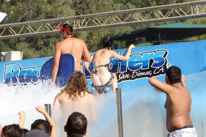 Katy Perry's Ass Cheeks Revealed at the Water Park
