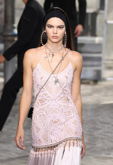 Kendall Jenner Nipples on the Catwalk
