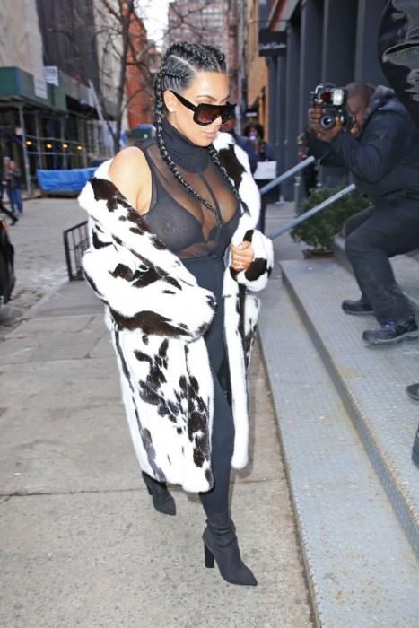 Kim Kardashian See Through Bra