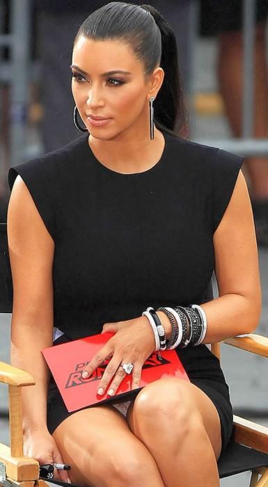 Kim Kardashian White Panties Upskirt