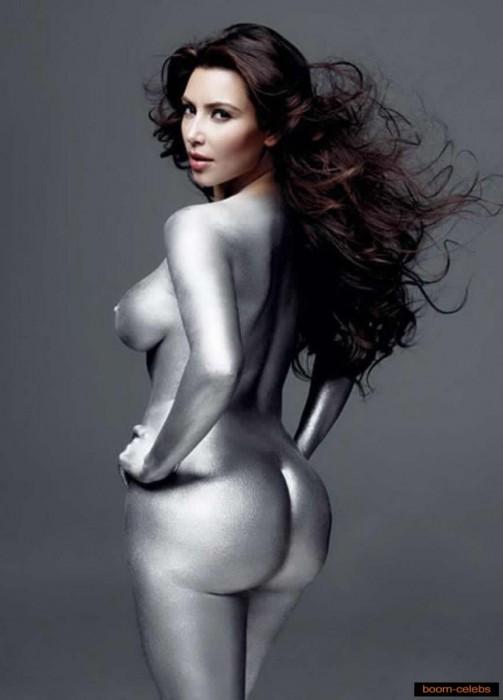 Kim Kardashian silver booty
