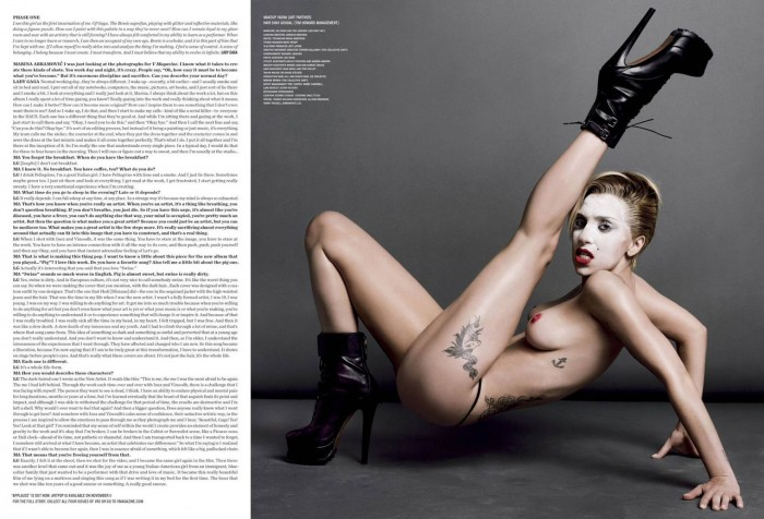 Lady Gaga Nude for V Magazine Sexy legs