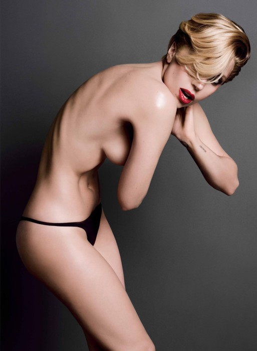 Lady Gaga Topless in black panties