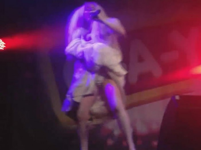 Lady Gaga showing her pussy on stage pic