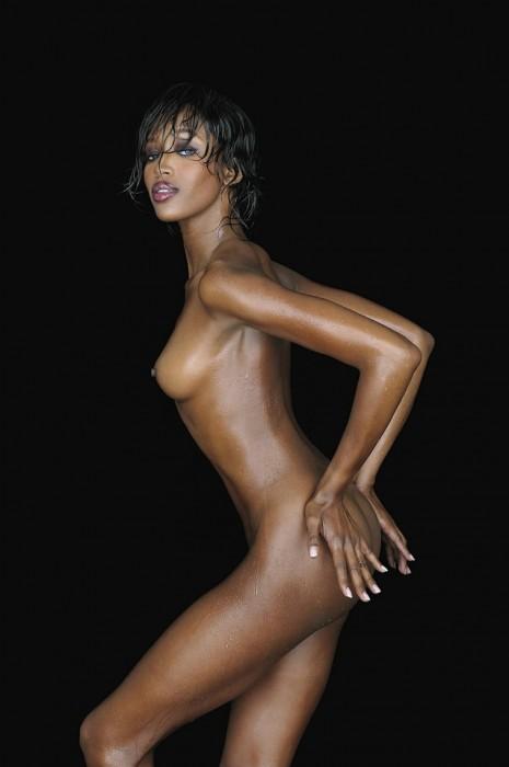 Naomi Campbell posing naked