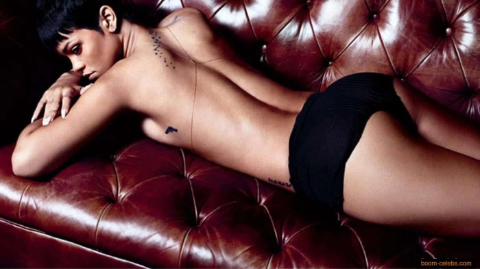 Rihanna topless photo shoot