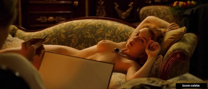 Titanic Kate Winslet posing naked