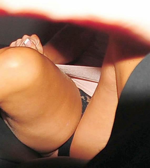 Tulisa Contostavlos Black Panty Upskirt 2