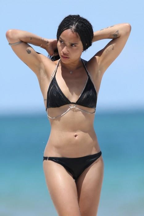 Zoe Kravitz bikini body