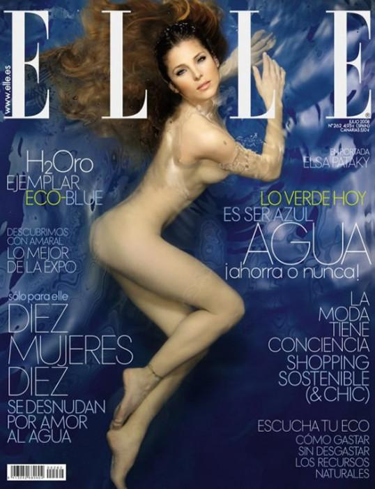 Elsa Pataky Naked for Elle