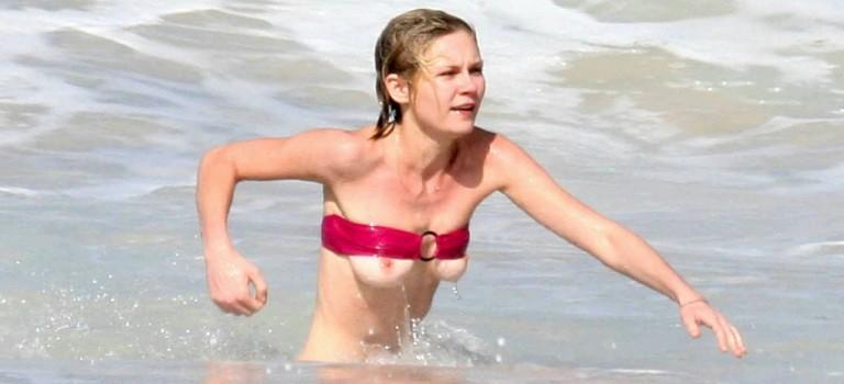 Kirsten Dunst Nip Slip and Upskirt (11 Photos)