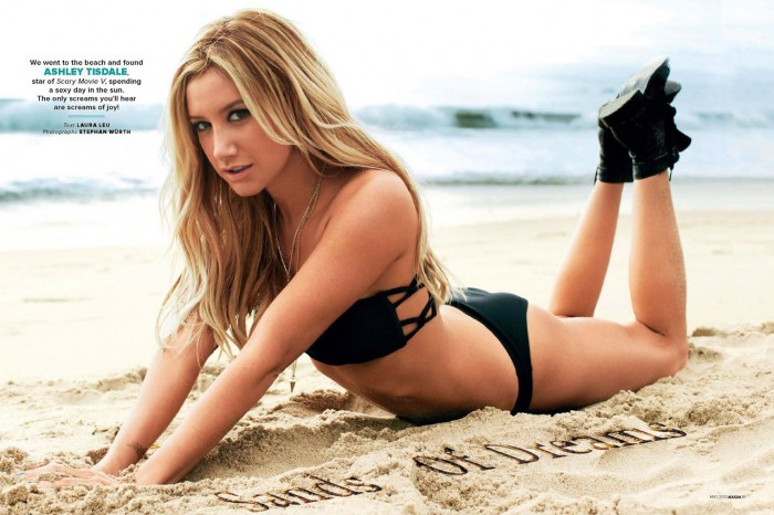 sexy-ashley-tisdale-in-black-bikini