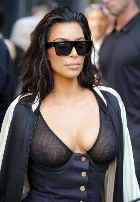 sexy-kim-kardashian-braless