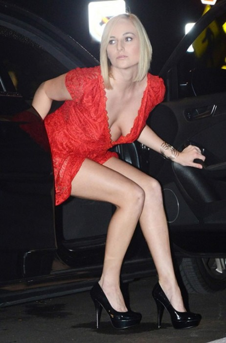 sexy-kate-england-nipple-slip-red-dress-night-out-miami
