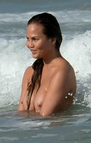 Chrissy Teigen Hard Nipples