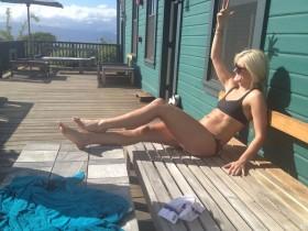Kaylin Kyle in black bikini