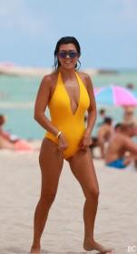 Kourtney Kardashian in sexy swimsuit