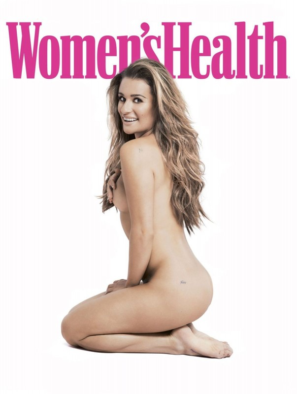 Lea Michele Naked for Womens Health