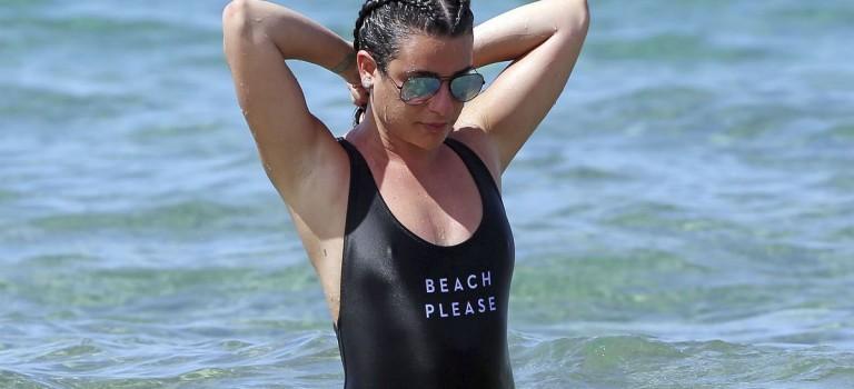 Lea Michele in Swimsuit (13 Photos)
