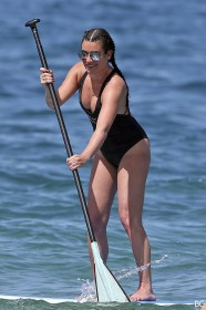 Lea Michele in swimsuit paparazzi