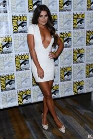 Lea Michele in white dress