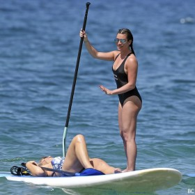 Sexy Lea Michele swimsuit candids