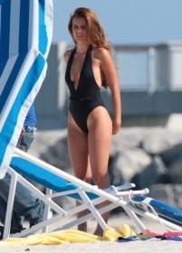 Xenia Deli Swimsuit candids