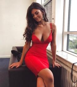 Erin Willerton in sexy dress