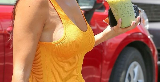 Kourtney Kardashian Braless (14 Photos)
