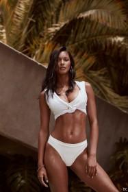 Lais Ribeiro in white bikini