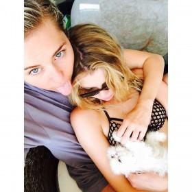 Miley Cyrus Home Photo