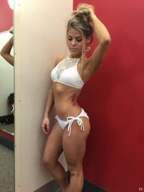 Valerie Pac in white bikini