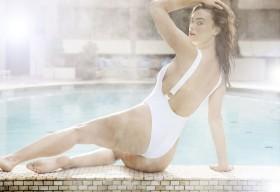 Hot Myla Dalbesio in white swimsuits