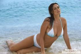 Myla Dalbesio in white bikini