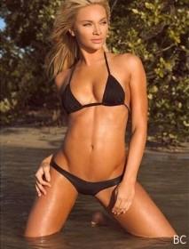 Tara Booher in mini bikini
