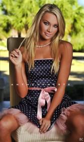 Tara Booher in sexy dress