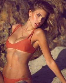 Kara Del Toro in red bikini