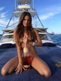 Lucy Aragon Naked on boat