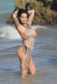 Sexy Jemma Lucy in swimsuit