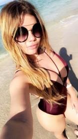 Chanel West Coast in swimsuit