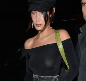 Hot Bella Hadid Braless